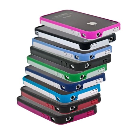 (9 Pack) BodyGuardz Ciderz iPhone 4 Bumpers - Royal Blue / Baby Blue / Red / Navy / Black / Green / Pink / White