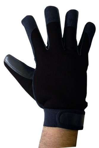 Boss Tech Mechanic''s Style Touch Screen Gloves, Texting Gloves for All Touch Screen Devices (Black)