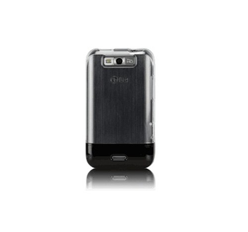 OEM Sprint ECOPhone Cover Case for LG Viper 4G LTE (Clear/Black)