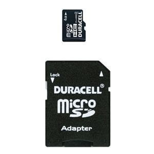 Duracell 4GB microSDHC Card and SD Adapter (DURAC4GB) (Bulk Packaging)