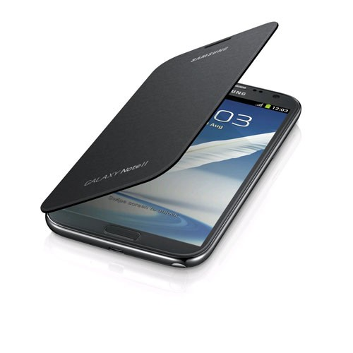 OEM Samsung Galaxy Note 2 Flip Cover (Titanium Gray)
