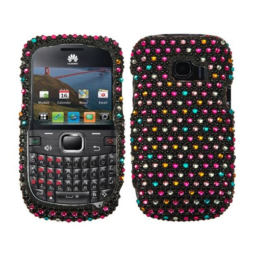 HUAWEI M636 / PINNACLE 2 SPRINKLE DOTS DIAMANTE PHONE PROTECTOR COVER