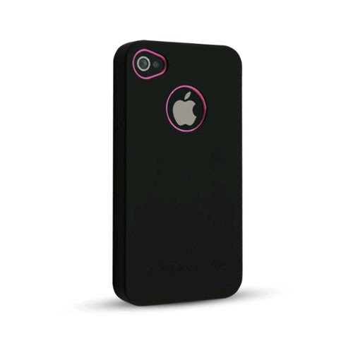 Technocel Exo Shield for Apple iPhone 4 - Black/Pink