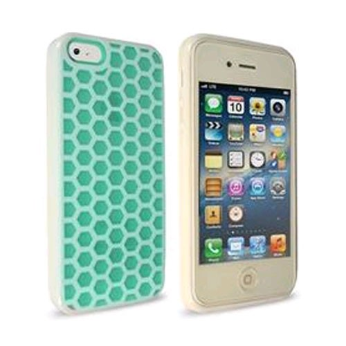 Technocel Honeycomb Case for Apple iPhone 5/5s - Turquoise/White