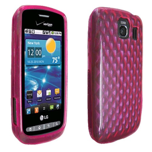 OEM Verizon LG Vortex VS660 High Gloss Silicone Case (Pink) (Bulk Packaging)