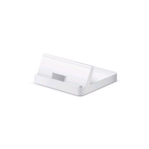 Apple - Charge and Sync Dock for Apple iPad - White
