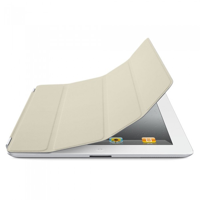 Original Apple iPad 2, 3, 4 Leather Smart Cover - Cream
