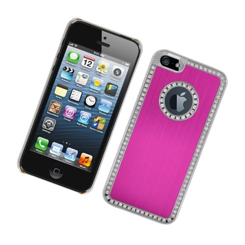 Iphone 5 Luxury Diamond Metal Case C1203 Hot Pink