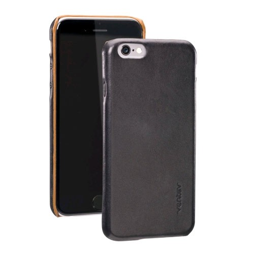 Ventev Penna, Leather Cell Phone Case for Apple iPhone 6 - Black/Camel