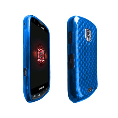 OEM Verizon High Gloss Silicone Case for Samsung Droid Charge SCH-I510 (Blue) (Bulk Packaging)