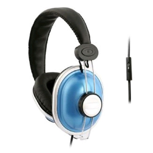 UMA DJ Style Headphones with Handsfree Remote (Blue)