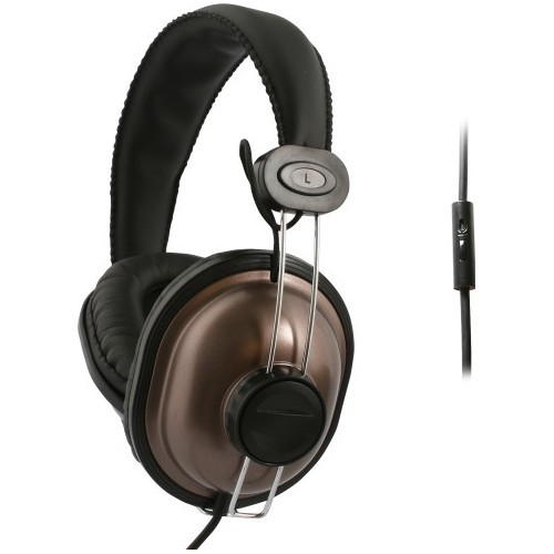 UMA DJ Style Universal 3.5mm Headphones with Handsfree Controls (Brown)