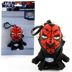 Star Wars - Star Wars Darth Maul Mini Talking Key Chain Plush 4""