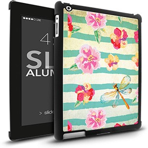 iPad 2/3 Slim - Flowers Dragonfly