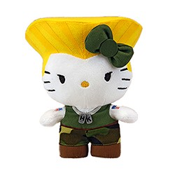 TOYNAMI - Street Fighter x Sanrio Hello Kitty Guile Plush 11""