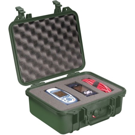 Pelican Products Equipment case  foam Green 2 x 9 1/16 x 5 3/16