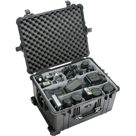 "Pelican Products Wheeled Case  22-1/16""Lx17""Wx12-9/16""D. BLACK"