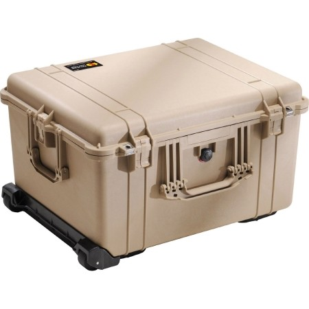 "Pelican Products Equipment Case 22-3/16""L x 17-1/8""W x10-9/""D.TAN"