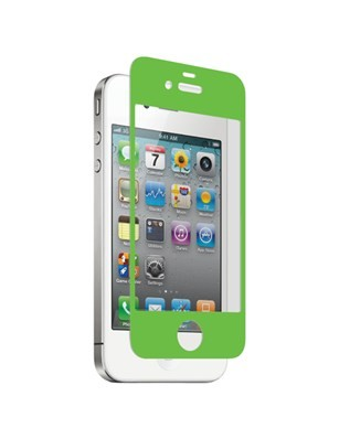 Nitro Glass Screen Protector for Apple iPhone 4/4S - Green