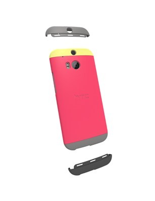 HTC  Dip Case for  HTC One (M8) - Yellow/Raspberry Rose/Grey