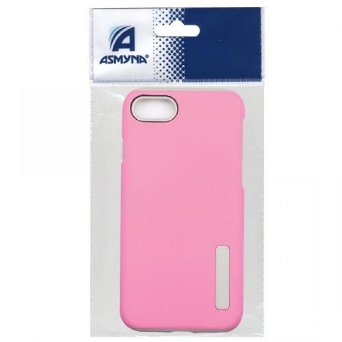 *DISCONTINUED ITEM* APPLE IPHONE 8/7 ASMYNA HYBRID CASE-PINK/GRAY