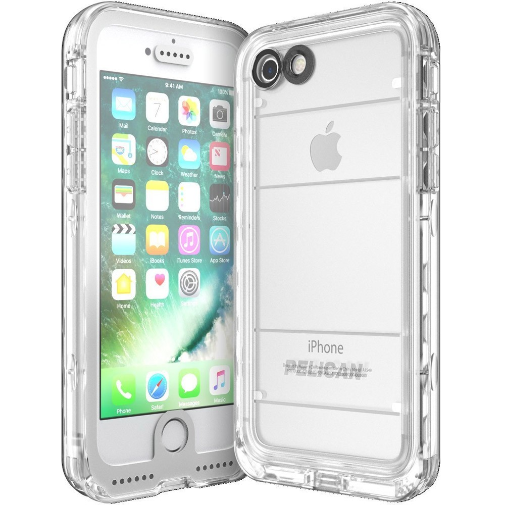 buy popular 62836 9e859 Pelican Marine IP68 Waterproof Case for iPhone 6/6s/7/8 - White/Clear