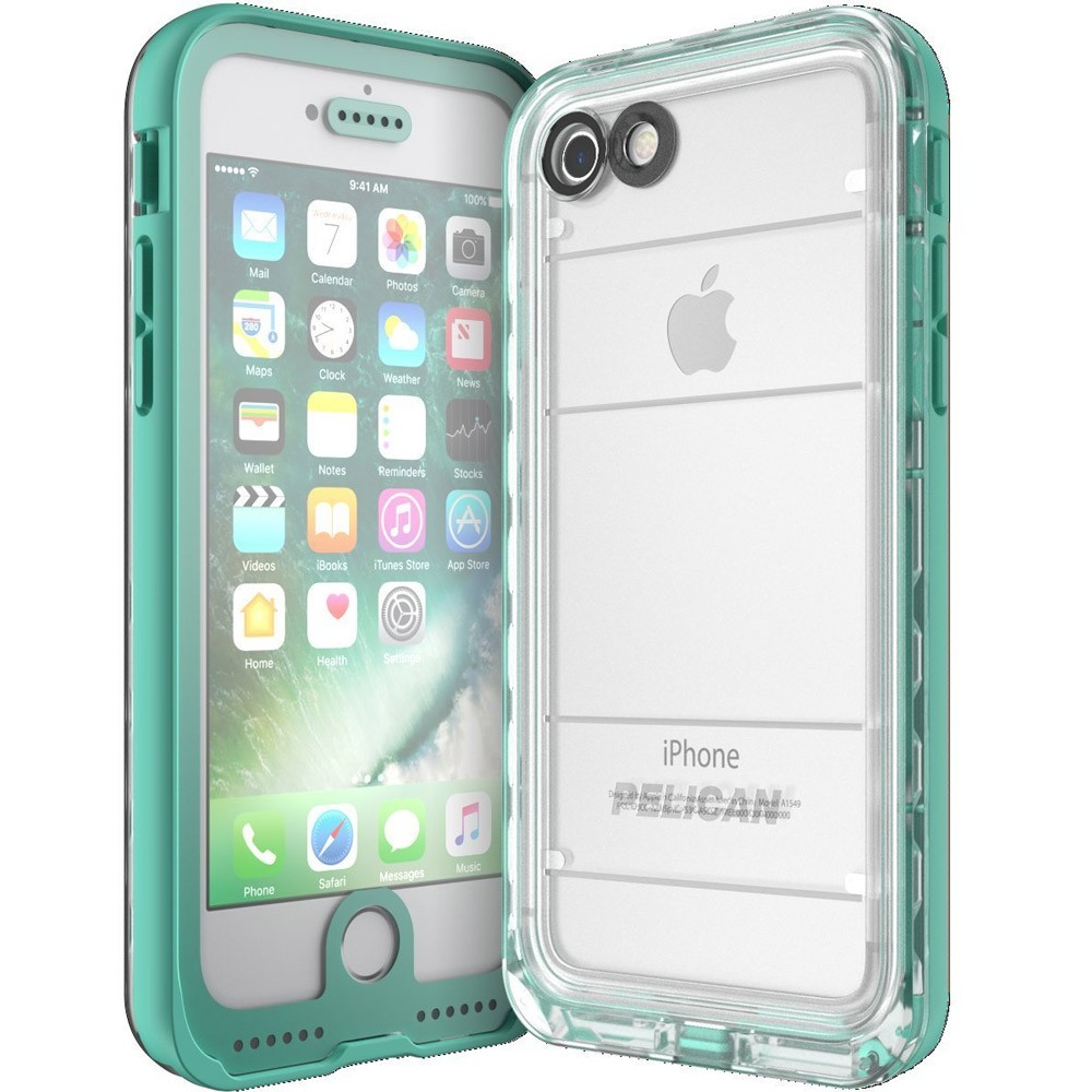 competitive price 5390e 39488 Pelican Marine Waterproof Case for iPhone 6/6s/7/8 - Teal/Clear