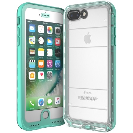 best sneakers 2e8e7 b9ec8 Pelican Marine IP68 Waterproof Case for iPhone 8/7 Plus - Teal/Clear