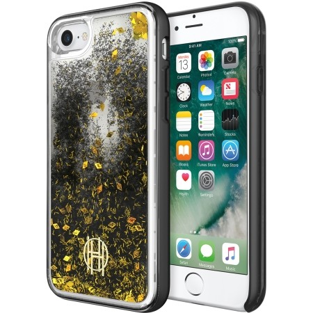 Incipio House of Harlow LiqGlitter Case iPhone7 Black/Gold