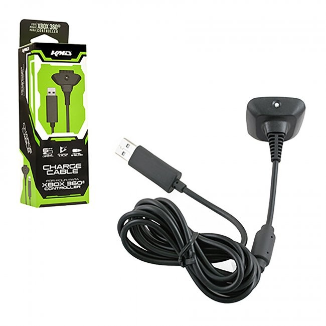 KMD - Charge Cable Charger for Xbox 360 - Black