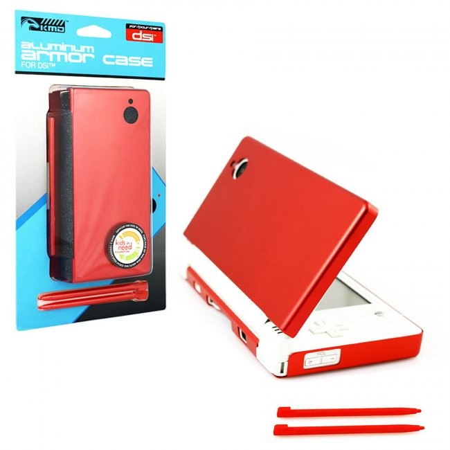 KMD - Aluminum Armor Case & Dual Stylus Set for DSI - Fire Red