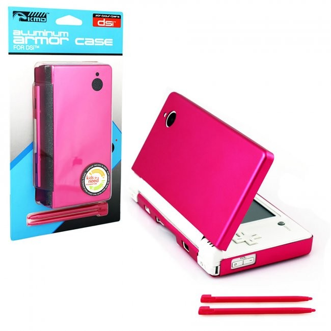 KMD - Aluminum Armor Case & Dual Stylus Set for DSI - Hot Pink