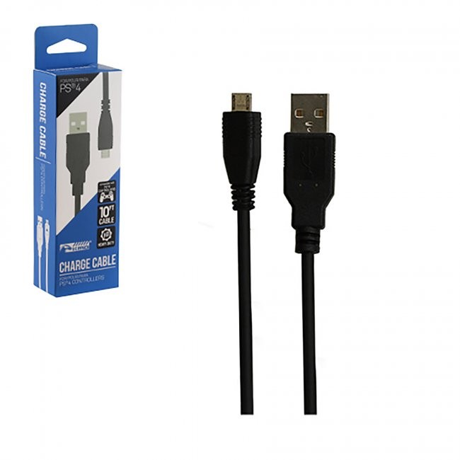 KMD - PS4 10 ft USB Charge Cable for Controllers