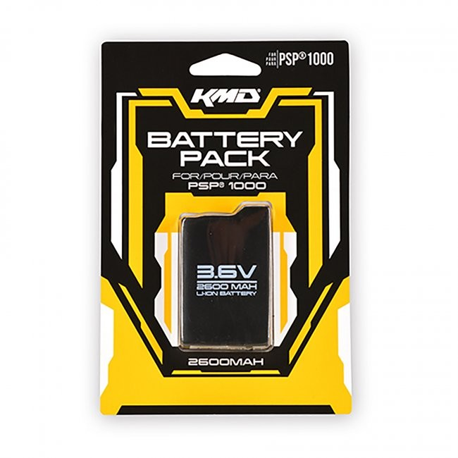 KMD - Rechargeable Pack 3.6V 2600 mAh Battery for PSP 1000
