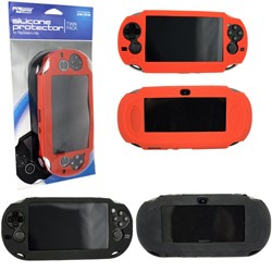 KMD - Twin Pack Silicone Protector for PSVita - Black/Red