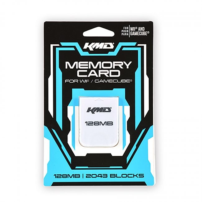 KMD - 128MB 2043 Blocks Memory Card for Gamecube/Wii