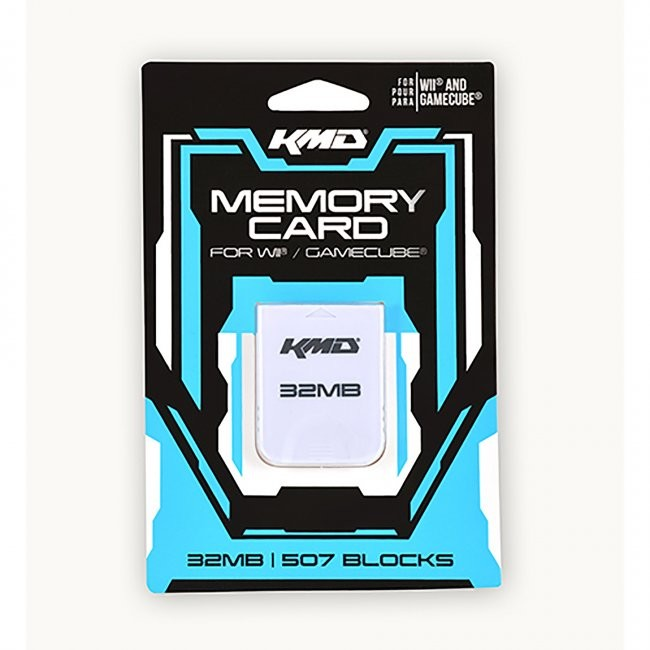 KMD - 32MB 507 Blocks Memory Card for Gamecube/Wii - White