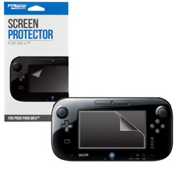 KMD - Protective Film, Squeegee & Cloth Set Bundle for Wii U
