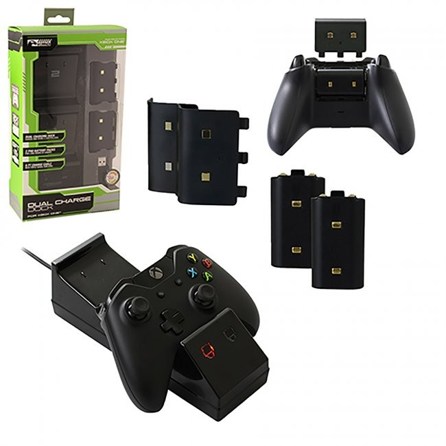 KMD - Dual Charge Dock Charger for Xbox One - Black