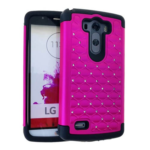 2 in 1 Case, Rhinestone on Pink.
