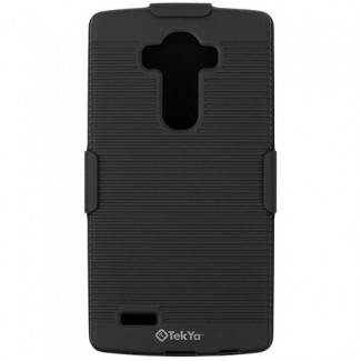 LG G4 TEKYA HOLSTER SNAP ON SHIELD COMBO - BLACK