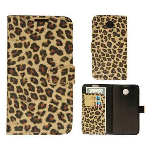Wallet Diary Case, Leopard Print Leather