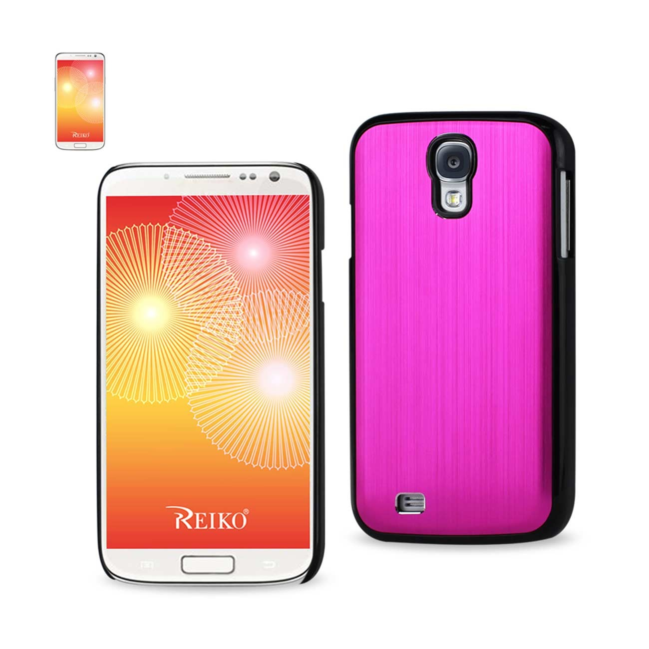 Reiko Wireless Aluminum Varnish Protective Case for Samsung Galaxy S4 - Hot Pink