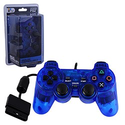 TTX Tech - New  Similar functions of DualShock 2 Wired Controller for PS2  - Clear Blue