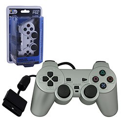 TTX Tech - New Similar functions of DualShock 2 Wired Controller for PS2 - Silver