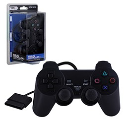 TTX Tech - New  Similar functions of DualShock 2 Wired Controller for PS2 - Black