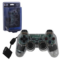 TTX Tech - New Similar functions of DualShock 2 Wired Controller for PS2 - Crystal Clear