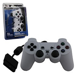 TTX Tech - New Similar functions of DualShock 2 Wired Controller for PS2 - White
