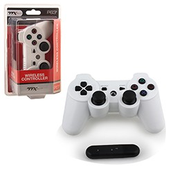 TTX Tech - Wireless 2.4 GHZ Controller for PS3 - White