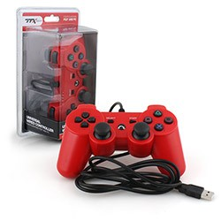 TTX Tech - Wired USB Controller for PS3/PC - Red